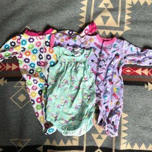 Other - Baby girls 0-3 mo onsie and 2 sleepers bundle